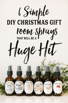 6 Simple DIY Christmas gift room sprays that will be a hit Check out these adorable DIY Christmas gifts room sprays with Essential Oils. The Free printable Christmas gift labels. I can't wait to. Diy Christmas Gifts For Friends, Inexpensive Christmas Gifts, Diy Gifts For Kids, Teacher Christmas Gifts, Teacher Gifts, Christmas Diy, Natural Christmas, Santa Gifts, Christmas Tree Spray