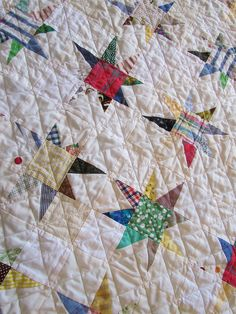 Scrappy Twinkle Star Quilt by twobutterflies, via Flickr