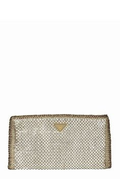 New in - Prada Madras Woven Leather Clutch at Starbags.eu