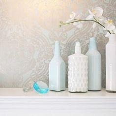 Create your own milkglass trash to treasure idea! Pretty.