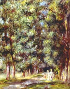 deadpaint:  Pierre-Auguste Renoir,Path Through the Undergrowth