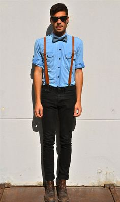 suspenders for men with bow tie - Google Search