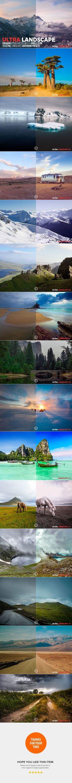 15 Ultra Landscape Lightroom Presets - #Landscape #Lightroom #Presets Download here: https://graphicriver.net/item/15-ultra-landscape-lightroom-presets/20303642?ref=alena994