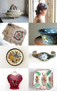 Flower Market at Vintage And Main ~ a vintage floral collection by VintageAndMain on Etsy