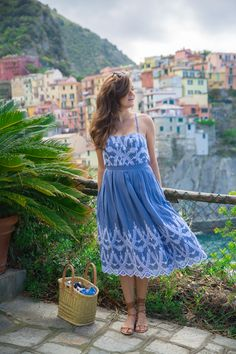 Blue + white eyelet dress (on sale!)