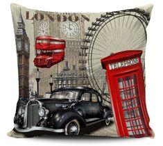 Almofada decorativa London Vintage