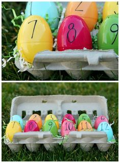 Easter Countdown | Fun Easter countdown for kids. Fill each egg with a little surprise or scripture!