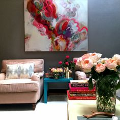 Living room in bloom. West Village, NYC.