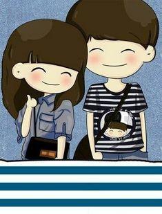 thumb for like Cute Chibi Couple, Love Cartoon Couple, Cute Love Couple, Anime Love Couple, Cartoon Pics, Cute Cartoon Wallpapers, Phone Wallpapers, Couple Clipart, Love Wallpapers Romantic