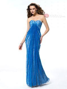 US$215.99 Fancy Sheath Sweetheart Ruffles Floor-Length Lace Beading Evening Dress. #Party #Fancy #Lace #Beading