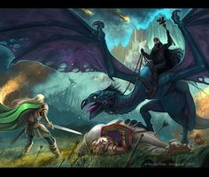 Eowyn and the Nazgul by Amisgaudi.deviantart.com on @deviantART