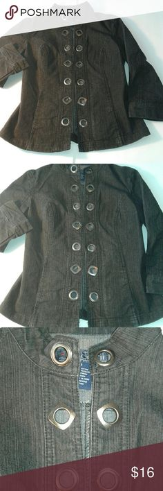 BACCINI Ladies Black DENIM Jacket size Small In excellent condition,  gently used   70% Cotton  29% Polyester  1% Spandex BACCINI Jackets & Coats Jean Jackets