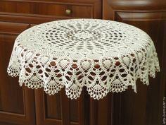 1000 Images About Tejidos On - Diy Crafts - maallure Crochet Curtain Pattern, Crochet Tablecloth Pattern, Free Crochet Doily Patterns, Crochet Designs, Diy Crafts New, Diy Crafts Crochet, Crochet Home, Mantel Redondo, Crochet Sunflower