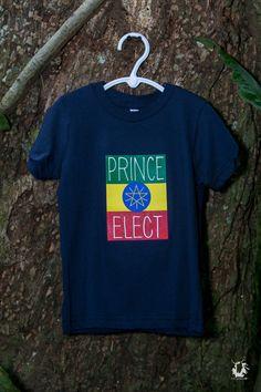 PRINCE ELECT Rasta Rebel Lion Youth Tee Shirt  by Rastarebellion