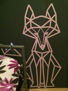 Diy wall art geometric fox