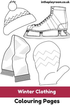 Free Printable Winter Clothing colouring pages