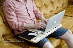 Slate is a very portable desk that holds your laptop, smartphone or mini tablet. Made from a single cut of a premium bamboo, it is lightweight and very strong and durable. A heavy duty mousepad is built within the Slate to make your work easier without adding any additional accessories. Made to fit laptops of any size or brand.