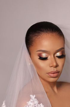 Bride Makeup Natural, Soft Bridal Makeup, Wedding Makeup For Brown Eyes, Wedding Hair And Makeup, Makeup For Brides, Wedding Lipstick, Make Up Braut, Just In Case, Makeup Inspo