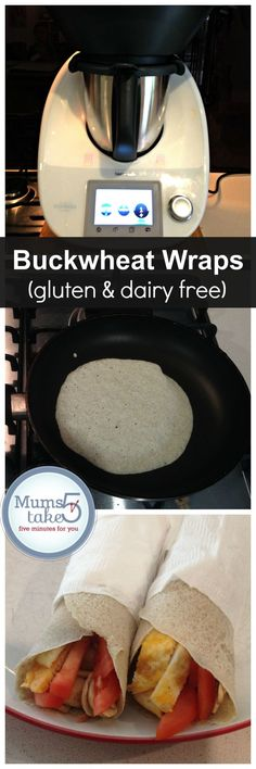 Thermomix Buckwheat Dairy and Gluten free wraps
