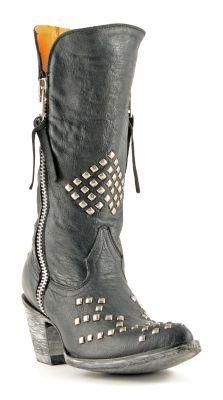 Womens Old Gringo Rivka Cowboy Boots Black #L1468-2 #biker #western #cowgirl #edgy