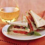 Mini Bacon, Tomato, and Basil Sandwiches Recipe | MyRecipes.com