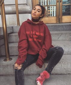 Chantel Jeffries -May the Bridges i burn light the way Edgy Outfits, Simple Outfits, Cute Outfits, Fashion Outfits, Dope Fashion, Fashion Killa, Urban Fashion, Womens Fashion, Pink Beige