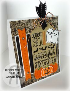 Reverse Confetti | Spooky Cuties, Spooky Sentiments, Whole Lotta Dots, Forever Fall [Halloween Card] Halloween Ghosts, Halloween Cards, Holidays Halloween, Halloween 2017, Halloween Ideas, Gratitude Day, Paper Craft Making, Halloween Silhouettes, Hand Stamped Cards