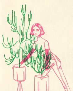✨Casual plant pose✨ Girls and Plants zine second edition is back in stock at bijoukarman.com/shop