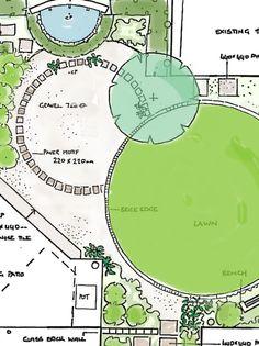 garden design drawing on garden design masterplan west. Black Bedroom Furniture Sets. Home Design Ideas