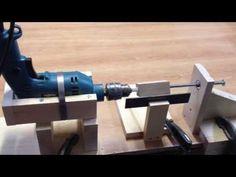 homemade wood lathe - YouTube