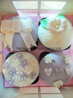 Vintage foursome set of cupcakes from The Manchester Cakehouse!