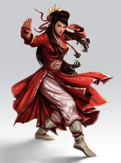 Kung fu Girl by lordeeas on DeviantArtYou can find Kung fu and more on our website.Kung fu Girl by lordeeas on DeviantArt Dungeons And Dragons Characters, Dnd Characters, Fantasy Characters, Female Characters, Female Character Concept, Character Art, Monk Dnd, Shaolin Kung Fu, Arte Cyberpunk
