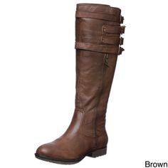 @Overstock - These knee-high boots by Steve Madden are the perfect complement to a stylish outfit. The boots are made from a genuine leather upper with a man-made sole, with round toes and a 17-inch shaft height. These boots are available in brown and black. OMG IM IN LOVE!!! these are the PERFECT boots!