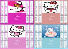 colorful | ... Kitty Learning Maths Times Tables Multiplication Chart ...