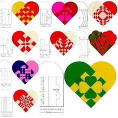 How to DIY Simple Interwoven Heart Patterns - DIY Tutorials - Modern Design Kirigami, Valentine Day Crafts, Holiday Crafts, Valentines, Art For Kids, Crafts For Kids, Tarjetas Diy, Paper Weaving, Christmas Hearts