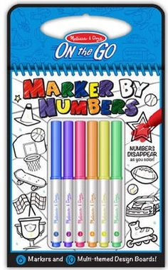 Melissa & Doug On the Go Color by Numbers (5378) - Blue