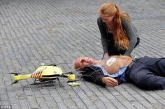 The ambulance drone can get a defibrillator to a patient within a 12 square kilometre (4.6...