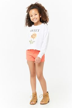 Product Name:Girls Sweet Graphic Sweatshirt (Kids), Category:CLEARANCE_ZERO, Price:15.9