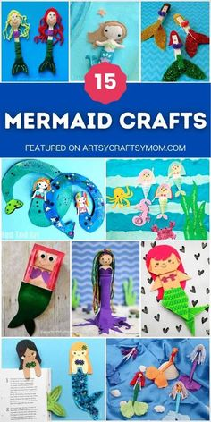 Then these mesmerizing mermaid crafts for kids are just what you need? Take an underwater adventure with these fun projects! Craft Activities For Kids, Family Activities, Crafts For Kids, Mermaid Crafts, Creative Thinking, Summer Crafts, Easy Diy Projects, Mermaids, Underwater