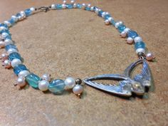 Art Nouveau Butterfly and Pearl Necklace by CaliforniaWildPoppy on Etsy