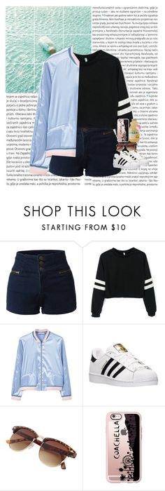 """Look At The Beautiful Stars"" by xoqueenhallexo ❤ liked on Polyvore featuring Oris, LE3NO, MANGO, adidas and Casetify"