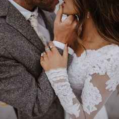 All brides think of finding the perfect wedding day, but for this they require the best bridal dress, with the bridesmaid's outfits complimenting the brides-to-be dress. Here are a number of ideas on wedding dresses. Wedding Goals, Wedding Pics, Wedding Dresses, Lace Weddings, Wedding Couples, Perfect Wedding, Dream Wedding, Wedding Day, Wedding Ceremony