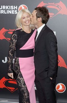Batman V Superman: Dawn of Justice. New York Premiere - Inside arrivals. Whitney Able (L) and Scoot McNairy attend the 'Batman V Superman: Dawn Of Justice' New York Premiere at Radio City Music Hall on March 20, 2016 in New York City. Photo Jim Spellman
