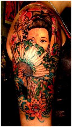Magnificent Geisha Tattoo #TattooModels #tattoo