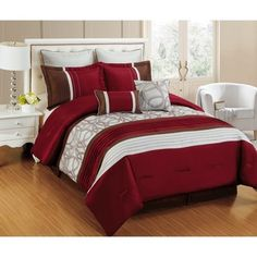 @Overstock - Fashion Street Emerson 8-piece Comforter Set - Classic with a morden twist, this comforter set will elevate your living quarter to another level of luxury and warmth.    http://www.overstock.com/Bedding-Bath/Fashion-Street-Emerson-8-piece-Comforter-Set/9923471/product.html?CID=214117 $89.99