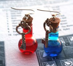 Mana And Health Potion Earrings and I need them