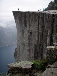 The ultimate hike.  Preikestolen (Pulpit Rock) near Stavanger, Norway