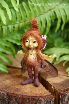 Brown Orchid sprite.    This is the first line of resin sprites/faeries casted from a mold made from an original.