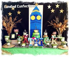Candied confections Peter Pan buffet