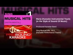 Maria (Karaoke Instrumental Track) (In the Style of Sound Of Music)